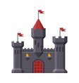 medieval castle fortress with towers ancient vector image vector image