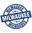 milwaukee blue round grunge stamp vector image vector image