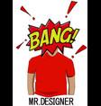 Mr desinger vector image