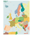 Original map of Europe vector image vector image