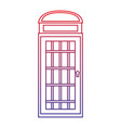 phone booth icon image vector image
