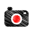 photography logo scribbled vector image