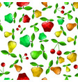 polygonal pear apple seamless pattern vector image vector image