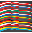ribbons flags vector image