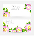 romantic background with light pink blossoms vector image vector image