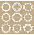 Round lacy doilies set Decorative frames vector image vector image