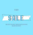 sale font alphabet vector image vector image