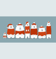 santa bears family sketch for your design vector image vector image
