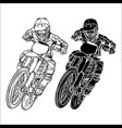 set motocross and supermoto vector image vector image