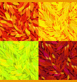 set of seamless pattern with autumn leaves vector image vector image