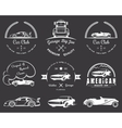 set vintage badges vector image