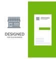 shop online market store building grey logo vector image vector image