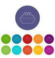 shopwindow icons set color vector image