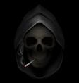 smoking kills Skull death 05 vector image vector image