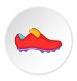 Soccer shoe icon cartoon style vector image