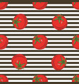 striped seamless pattern with tomatoes vector image