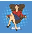 Successful Business Woman Pop Art vector image vector image