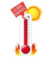 thermometer in summer weather vector image vector image