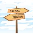 This way that way vector image