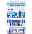 train passengers people in public railway vector image vector image