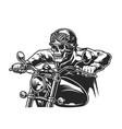 vintage motorcycle monochrome concept vector image vector image