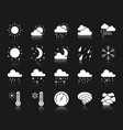 weather white silhouette icons set vector image