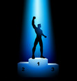 winner on the rank podium vector image vector image