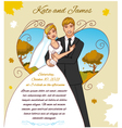 Young couple on the autumn background vector image vector image