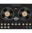 DJ Template Turntable vector image