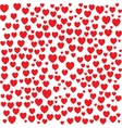 Red hearts seamless bakground pattern vector image