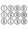 roman numerals set collection vector image