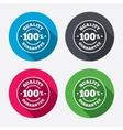 100 quality guarantee icon Premium quality vector image