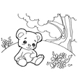 bear cartoon coloring pages vector image vector image