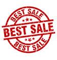 best sale round red grunge stamp vector image vector image