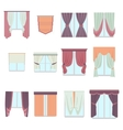 Big collection of various window decoration vector image vector image