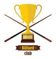 billiard club emblem in flat style vector image