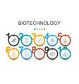 biotechnology infographic design templatedna vector image
