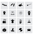 black halloween icons set vector image vector image