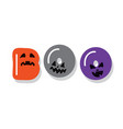 boo halloween icon cartoon letters with creepy vector image