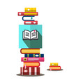 books heap in bookstore book vector image vector image