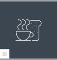 breakfat related line icon vector image