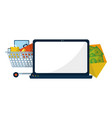 business office and marketing vector image