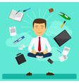 Business yoga vector image vector image