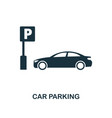car parking icon monochrome style design from vector image