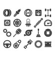 car parts black icons vector image vector image