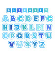 cartoon alphabet letters fonts symbols and vector image vector image