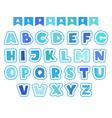 cartoon alphabet letters fonts symbols vector image
