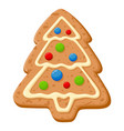 christmas gingerbread sweet holiday dessert vector image