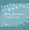 christmas greeting card design with border from vector image vector image