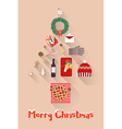 Christmas New Year Holiday items Set vector image vector image